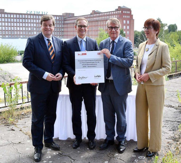 Berlin und Deutsche Bahn vereinbaren Finanzierung für vorgezogene Planungsleistungen zur schnellen Reaktivierung der Siemensbahn • i2030-Projekt stärkt Berliner Nahverkehr (Foto: DB)