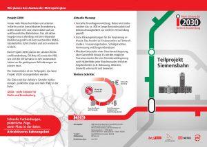 i2030 Teilprojekt Siemensbahn Infoflyer