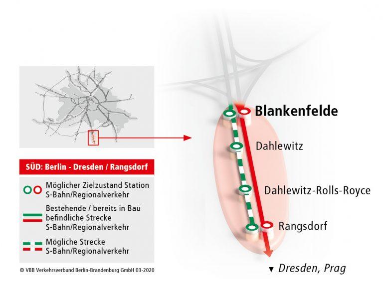 Verlängerung der S2 von Blankenfelde nach Rangsdorf
