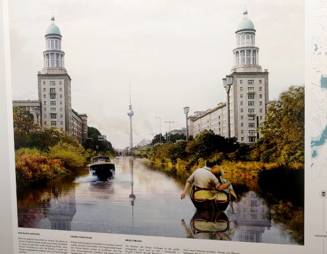 Wettbewerbsbeiträge mit Zukunftsvisionen für Großberlin im Jahr 2070, Foto: VBB